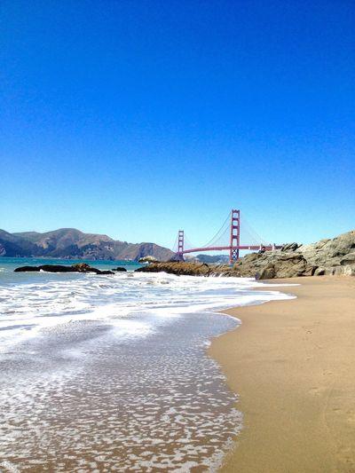 The Golden Gate Bridge viewed from Baker Beach. Beach Bridges Golden San Francisco Architecture Ocean Bridge Golden Gate Bridge California EyeEm Best Shots The Great Outdoors - 2016 EyeEm Awards