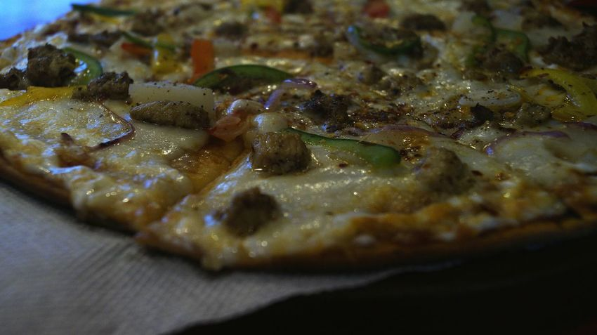 Pizza Pizza Grilled Pizza Evening Artificial Light Pizza Time Non Vegetarian Food Multicolor Close-up No People Indoors  Food Day