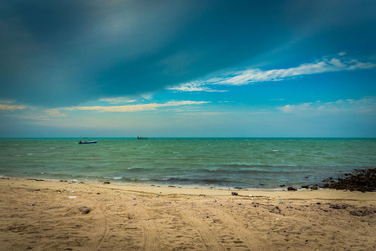 Beach Beauty In Nature Blue Cloud - Sky Day Horizon Over Water Nature Nautical Vessel No People Outdoors Sand Scenics Sea Sky Tranquil Scene Tranquility Travel Destinations Water