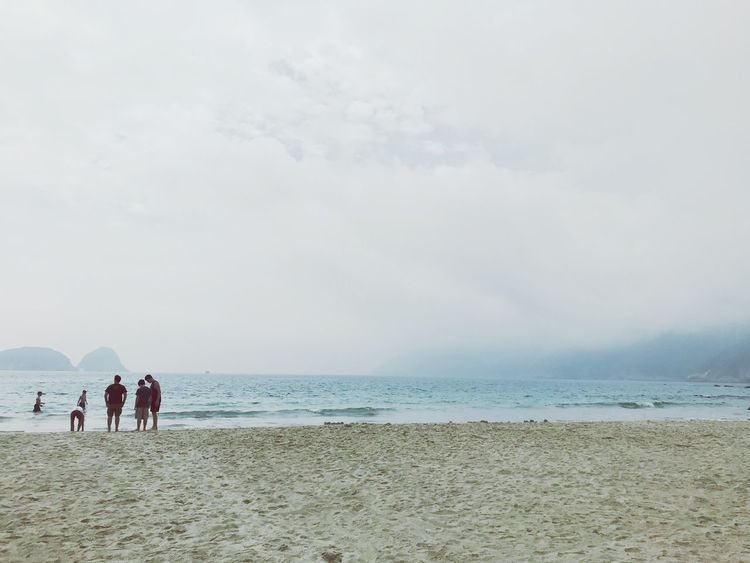Beach Beach Land Sky Sea Water Real People Group Of People Cloud - Sky Women Leisure Activity Scenics - Nature Day People Lifestyles Sand Nature Men Beauty In Nature Horizon Over Water Holiday EyeEmNewHere #FREIHEITBERLIN