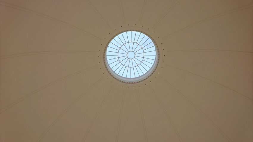 Ceiling at the Hamburger Kunsthalle. Ceiling Hamburg Germany Hh Hamburger Kunsthalle Kunsthalle Art Museum Light From Above  Ring Opening Circle Roof Lookingup Looking Up Pastel Clock Face Clock Astronomy Minute Hand Time Astrology Sign Concentric Roman Numeral Hour Hand Directly Below