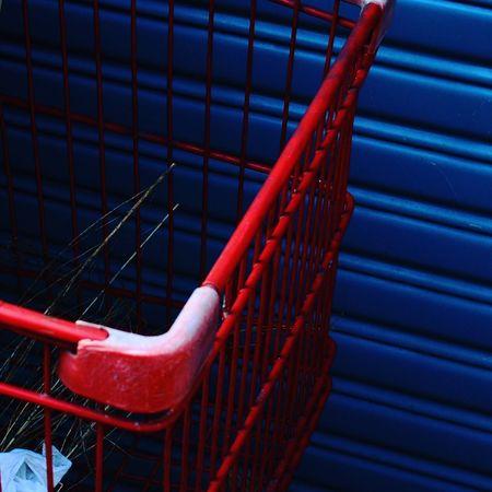 Red Cart Shutter Metal