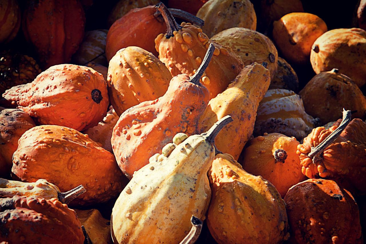 Full Frame Shot Of Pumpkins For Sale At Market