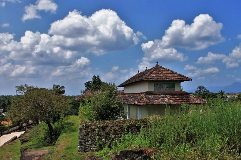 Dravidian architecture Architecture Beauty In Nature Blue Built Structure Cloud - Sky Cloudy Day Grass Green Green Color Growth Idyllic Landscape Nature No People Non-urban Scene Outdoors Plant Rural Scene Sky The Architect - 2016 EyeEm Awards The Great Outdoors - 2016 EyeEm Awards Tranquil Scene Tranquility Tree