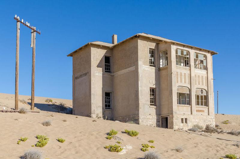 Abandoned House In Desert At Former German Mining Town Kolmanskop Near Luderitz, Namibia