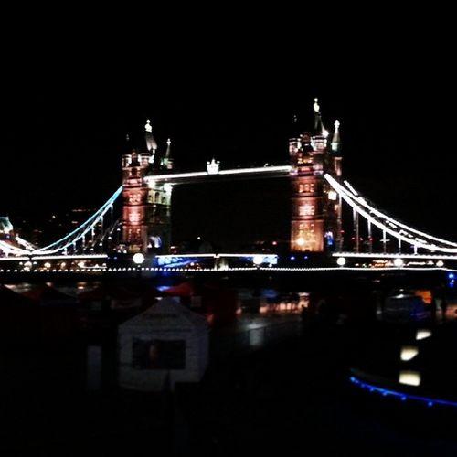 Towerbridge London Gauchos Birthdaymeal Nighttime Lights