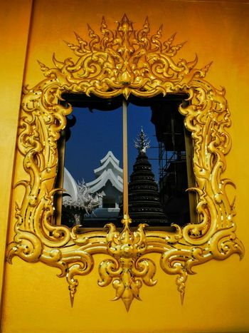 Gold Colored Gold Cool Tree Metal Tree Low Angle View White Temple White Temple Thailand Chiang Rai Chiang Rai, Thailand Chiang Rai | Thailand Wat Rong Khun WatRongKhunWhiteTemple Watrongkhun Wat Rongkhun Curves And Lines Curves & Lines Window Window Reflection Golden Wall Temple Architecture Golden Window View Reflection Asian Art Chinese Style