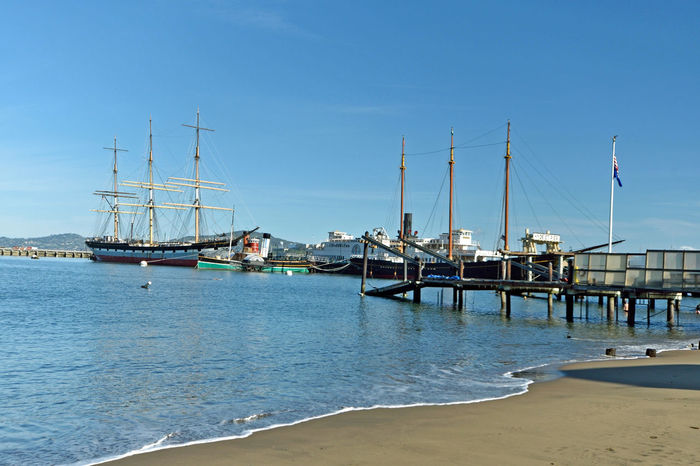 The Balclutha @ Hyde St. Pier 1 San Francisco, Ca. San Francisco Maritime National Historic Park Historic Ship Square-rigged Sailing Ship Cargo Is King 1st Career 1886-99 Grain 2nd Career 1899-1902 Lumber 3rd Career 1902-30 Salmon Onboard Cannery