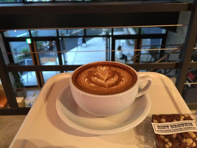 Coffee Break Coffee Setagaya Tokyo Japan コーヒーとミントブラウニー Coffee & mint brownie.