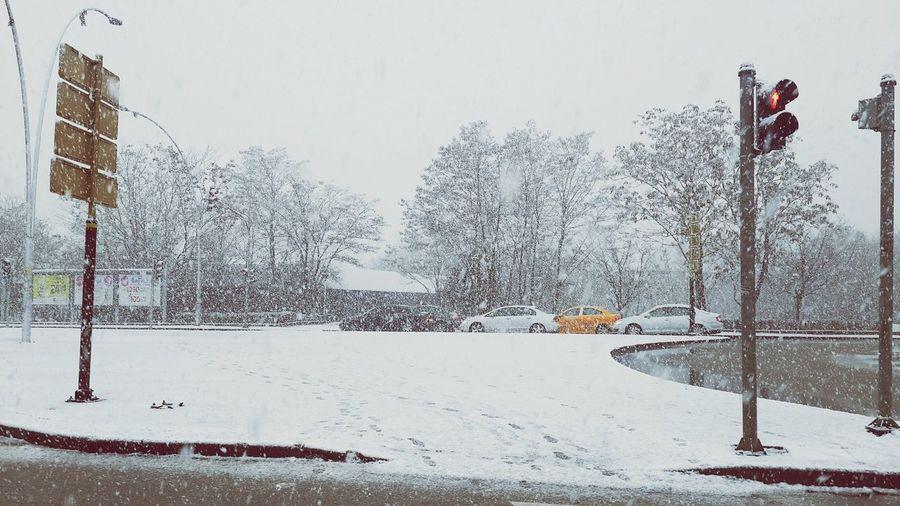 Snow... Again, again, again... Snow ❄ Snow Day Snowing Snowflakes Winter White Traffic