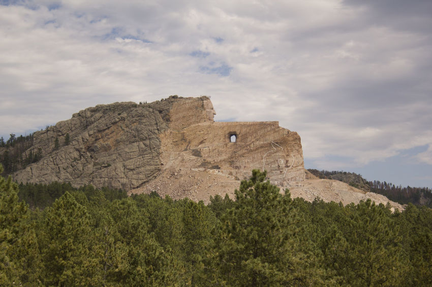 Crazy Horse. The Great Outdoors With Adobe The Great Outdoors - 2016 EyeEm Awards Scenics Outdoors Nature Landscape Outdoor Photography Sculpture Native American Indian South Dakota Black Hills Taking Photos Travel