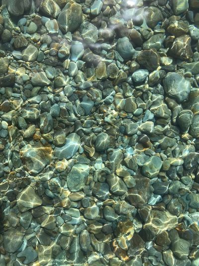 Transparent water in Palmarola island in Italy Italy Palmarola Full Frame Backgrounds Water No People Nature Sea Summer Exploratorium Solid High Angle View Day Stone - Object Rock Waterfront Pattern Beauty In Nature Transparent Rock - Object Outdoors Underwater Tranquility Pebble