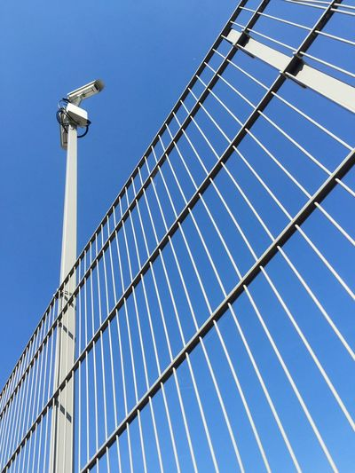 Fence Monitored With Cctv Camera