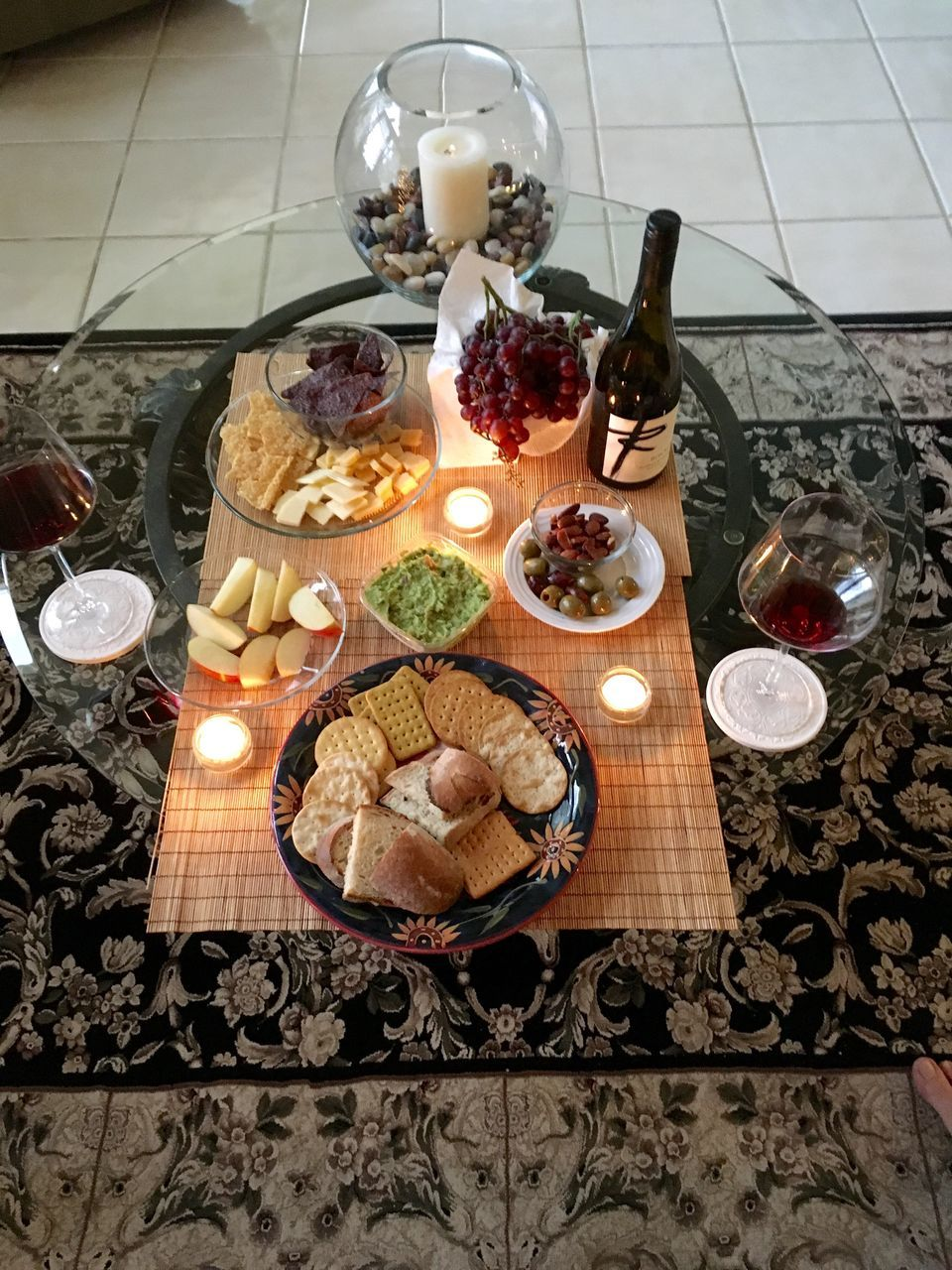 food and drink, food, table, candle, indoors, high angle view, freshness, no people, indulgence, ready-to-eat, variation, plate, fruit, sweet food, nut - food, healthy eating, close-up, day