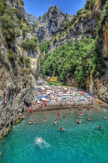 Furore in June Beach Water Outdoors Travel Destinations Large Group Of People Vacations