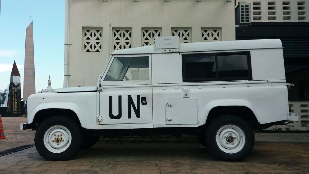 United Nations UN Trucks Vehicle Guard White Vehicle 4x4wd Keeper Diplomat Power Museum History Transport Army