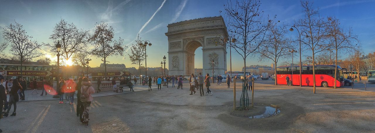 Paris is Magic ! Architecture City Tree Built Structure Building Exterior Outdoors Sky Real People Large Group Of People People City Gate Paris Arcdetriomphe Arc De Triomphe