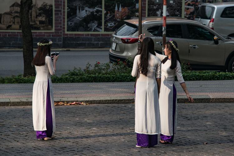 Vietnam Girls White White Dress Girl