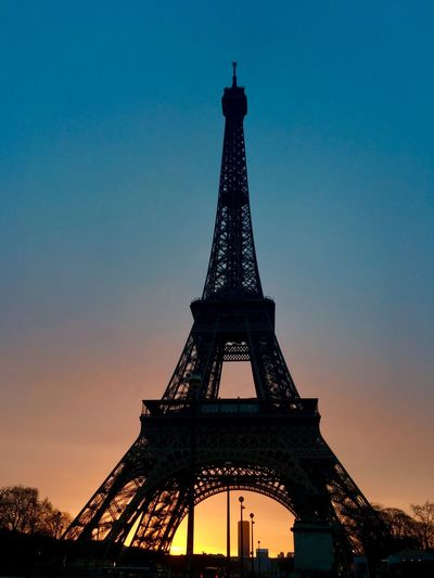Paris with love.❤ Paris Paris, France  Tower Tall - High Architecture Travel Destinations City Tourism Built Structure Sky Metal Travel Engineering Outdoors History Eiffel Tower Sunset