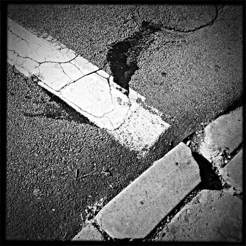 Follow the line - Black And White Blackandwhite Streetphotography Hipstamatic
