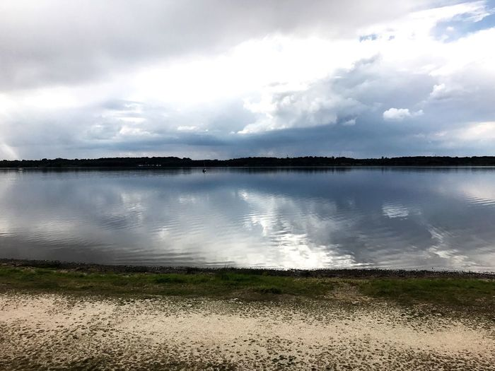 Water Cloud - Sky Sky Scenics - Nature Tranquility Lake Beach Beauty In Nature Reflection No People Nature Day Outdoors Lakeshore Idyllic Land Non-urban Scene Tranquil Scene Lagoon