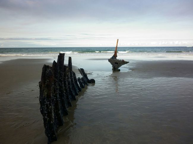 Caloundra Shipwreck this wreck has now been removed from the beach SS Dicky goodbye