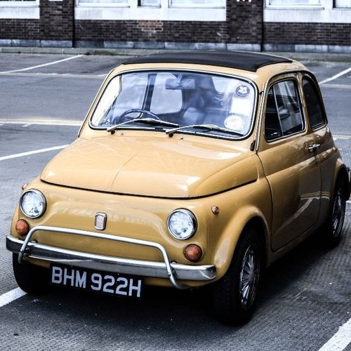 Fiat500lusso Fiat 500L 500lusso Fiat500 Yellow London Vauxhall Spring Iwantthatride Retro Vintage Timeless Class Italia