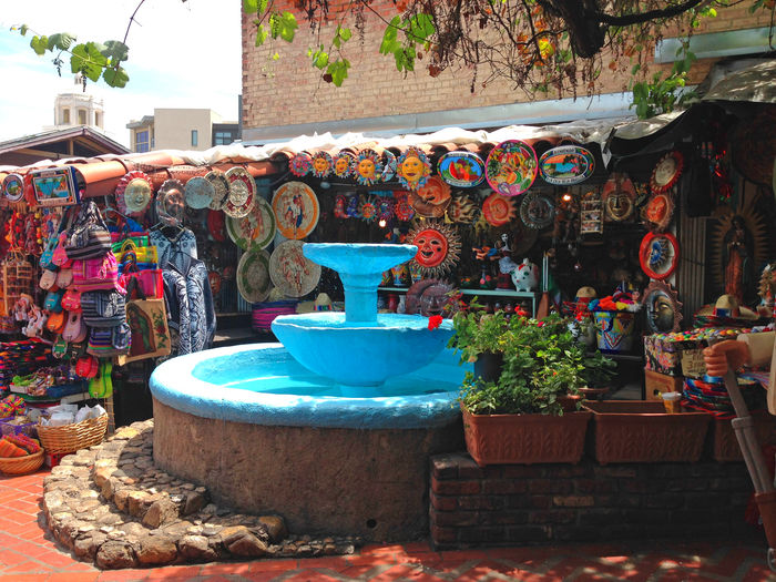 Abundance Attraction Blue California Craft Folklore Folklore Mexicano Fountain Handmade Los Angeles, California Market Old Town Olvera Street Retail  Selling Tourist