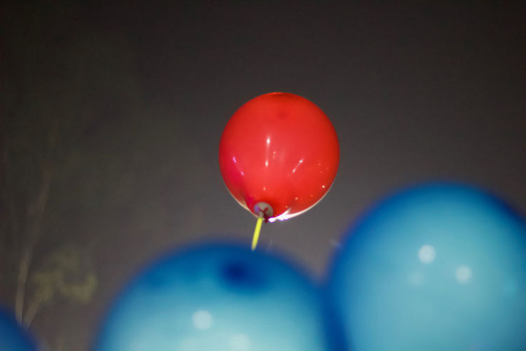 Close-up of multi colored balloon