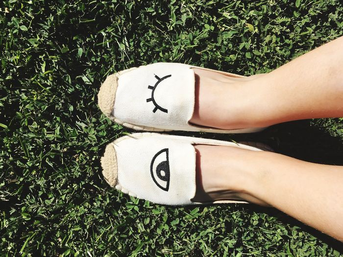 Eyes Shoes Green White Grass Nature Captured By Me Lovely While Tanning