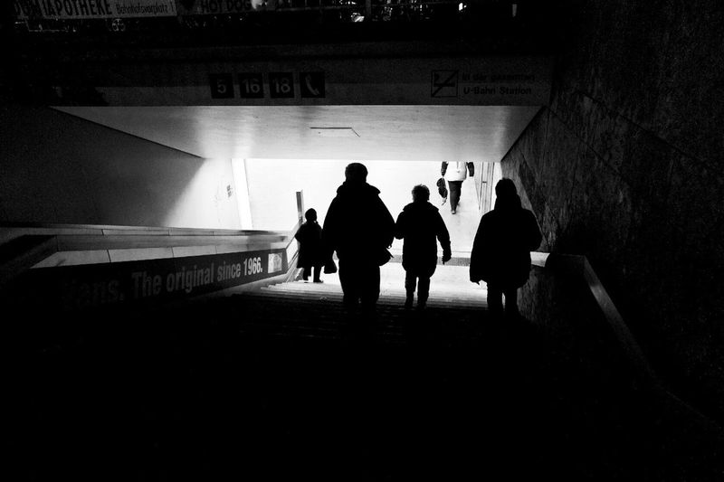 Stairway downstairs to cologne subway. Real People Silhouette Men Leisure Activity Rear View Lifestyles Indoors  Large Group Of People People Adult Germany Metro Station Metro Subway Station Subway Tube Station  Tube City Monochrome Blackandwhite Black & White Black And White Transport Urban Streetphotography Black And White Friday