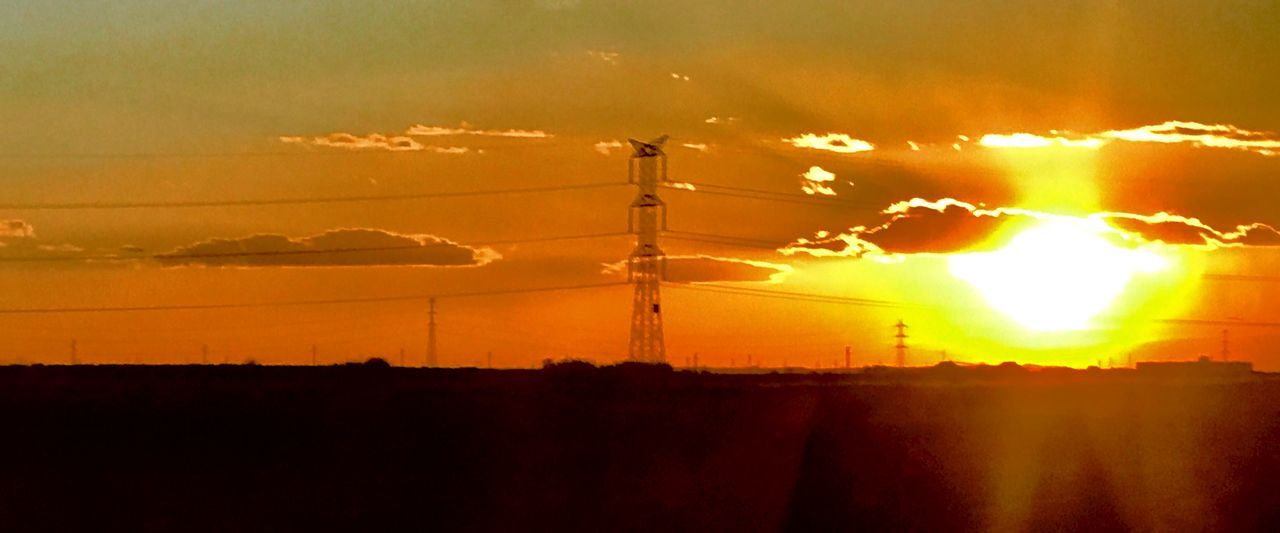Desde El Tren Sunset Silhouette No People Sky Sun Outdoors Nature