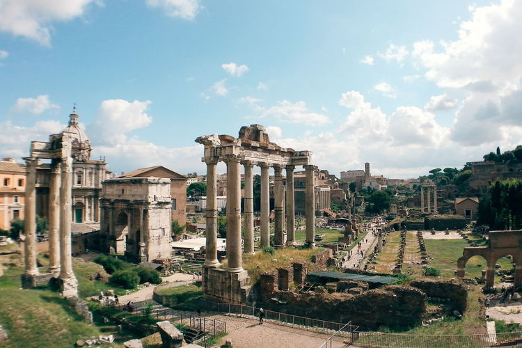 Roman forum against sky