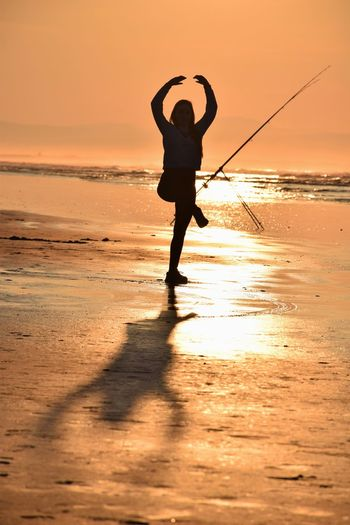 Lifes A Beach Silhouette Light And Shadow Modelgirl Sea And Sky my beautiful daughter on a glorious night IPSWebsite
