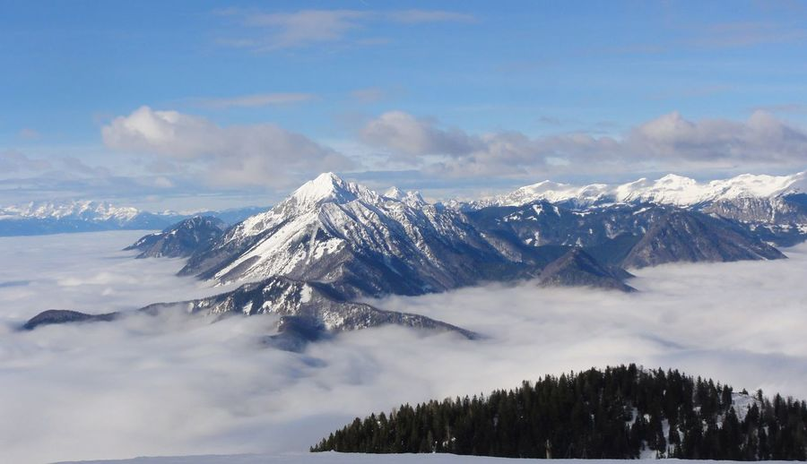 Mountains above clouds, Krvavec, Slovenia Holydays Mountain Nature No People Outdoors Ski Center Tranquility Vacations Winter Wintertime