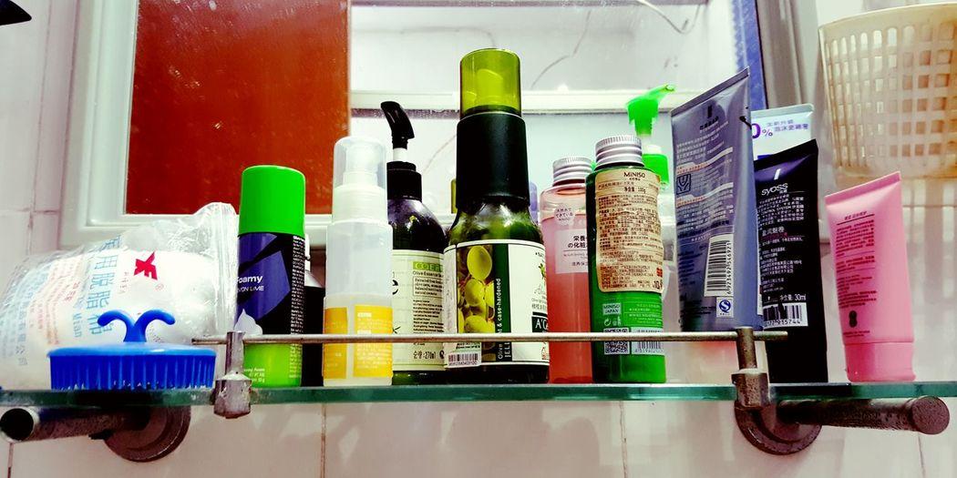 The Essence Of Summer The Photojournalist - 2016 EyeEm Awards Summer Toiletries Face Wash Shaving Cream Hair Spray Deodorant  Beautifully Organized