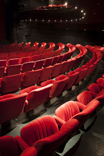 Interior of auditorium with empty seats