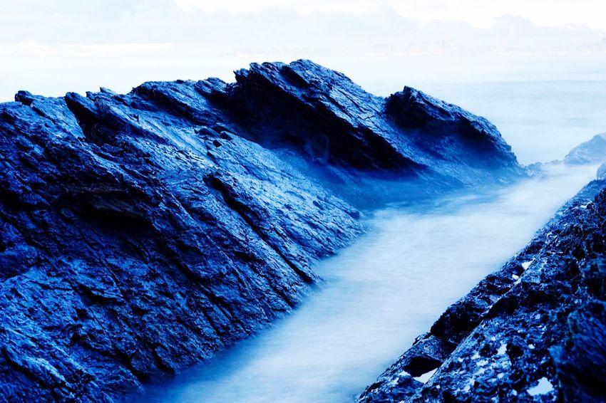 Long Exposure Blue Water Rocks Rocks And Water Exposure Currumbin Elephant Rocks Gold Coast Gold Coast Australia Surfers Paradise