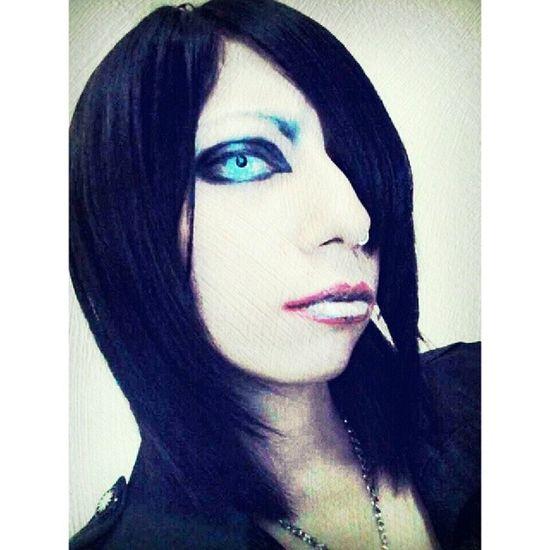 I try this makeUp,,inspired by Tsuzuku voc.Mejibray,,but i think its more look like Marilyn Manson wkwkwkkwwk xD Makeup Tsuzuku MEJIBRAY Visualkei visualkeimakeup visualkeiband marilynmanson creepy scary