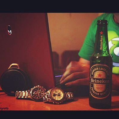 Good life..! Heineken Nightoff Party Alienware instagraminstalikegoodlifeboozeglhappy
