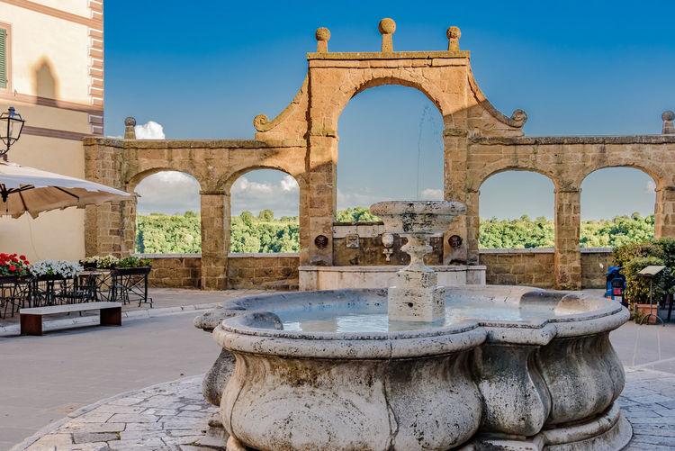 Fountain at palazzo orsini