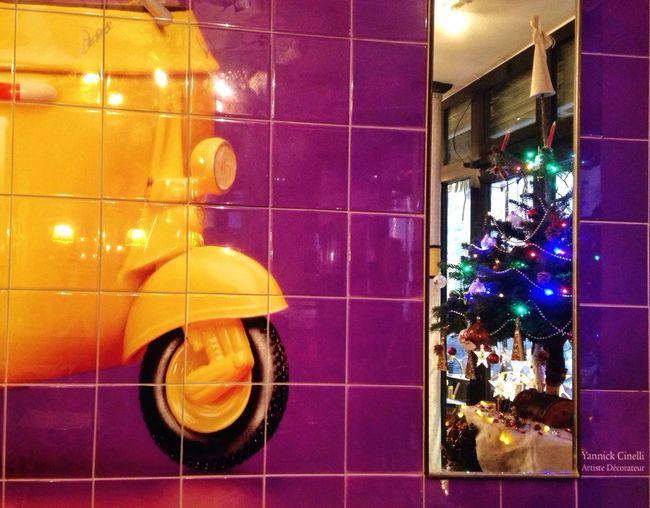 x-mass tree's reflection Festive Season Troquet Parisien The Purist (no Edit, No Filter) Christmas Tree