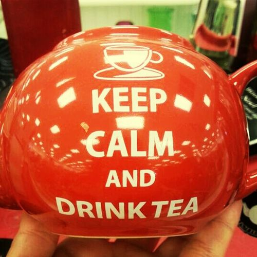 Yummy Tea Sale Red Teapot #keepcalm Frugal