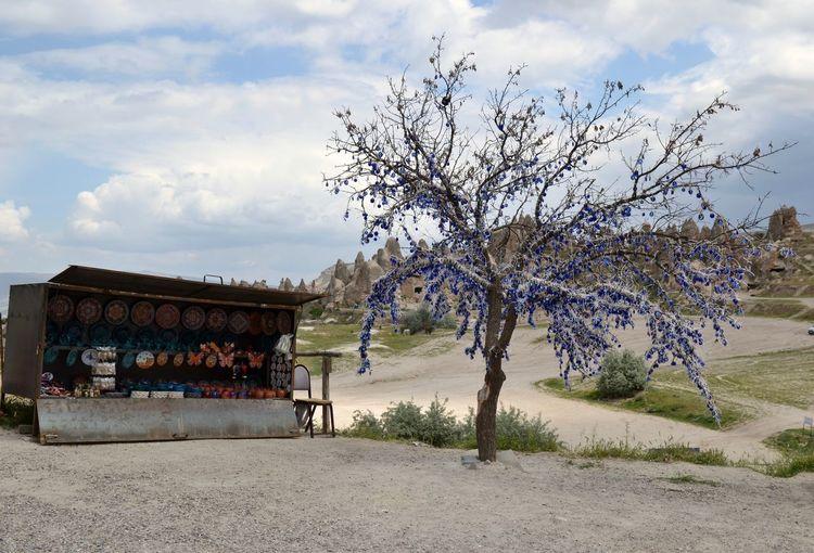Evil Eye Tree Cloud Evil Eye Fairy Chimneys Kapadokya Little Shop Rural Scene Tranquil Scene Tree First Eyeem Photo