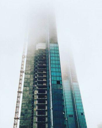 Tower Build Building Fog City Arcihitecture Landspace Istanbul Istanbuldayasam Turkey Foggy Winter