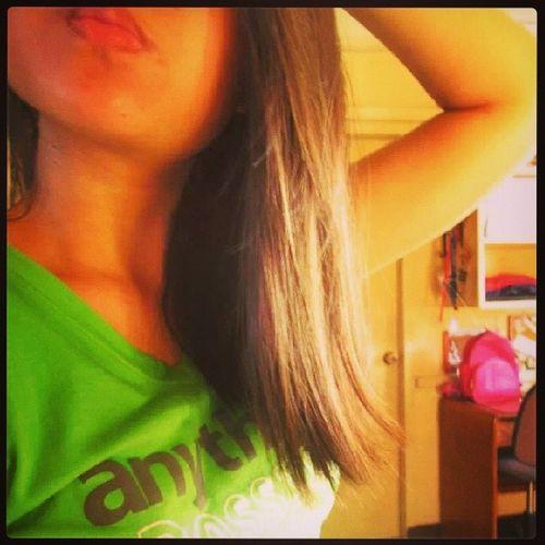 Ang ganda ko feel na feel ang long hair ko XD Habanghairnagrejoicekabagirl Walangmagawa Brighterthanthesun Anythingispossible green harthart napagtripan nguso love lalalalalala