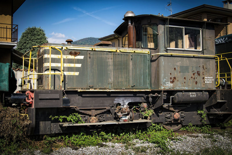Damaged Deterioration Mode Of Transport Obsolete Old Railroad Track Run-down Rust In Piece