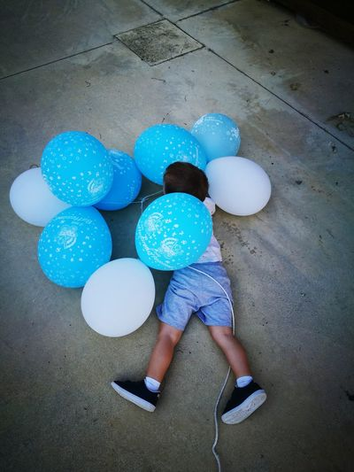 Child Casual Clothing Childhood Children Only One Boy Only Multi Colored Baloons🎈 Blue Fun Playing Cute Summer Haiden One Person Balloon