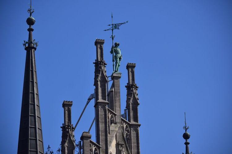 Architecture Baroque Architecture Built Structure Clear Sky Marienplatz Outdoors Travel Destinations