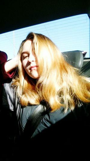 Young Women Blond Hair Portrait Beautiful Woman Long Hair Close-up